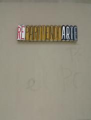 re partiendo arte (squeezemonkey) Tags: barcelona spain streetart cans wall graffiti art catalunya