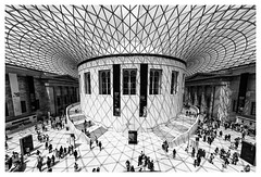 Queen Elizabeth II Great Court (Kam Sanghera) Tags: mainhall britishmuseum british museum main hall queenelizabethiigreatcourt queen elizabeth ii great court london ef1124mmf4lusm ef1124mm f4l usm bw black white nik silver efex pro 2