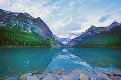 Lake Louise (ashockenberry) Tags: ashleyhockenberryphotography scenic scenery landscape beauty beautiful lake louise canadian rockies aquamarine blue green majestic mountains park outdoor alberta canada rocks water forest vacation reserve mountain wild wilderness west