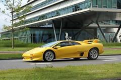 Lamborghini Diablo 1998 (29-XJ-ZS) (MilanWH) Tags: lamborghini diablo 1998 29xjzs yellow spot carspot lamborghinirijdennl