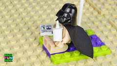 Vader on vacation (Brick Fun Park) Tags: lego darth vader vacation beach star wars legography