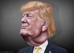 Donald Trump - Caricature (DonkeyHotey) Tags: donaldjohntrump donaldtrump gop republican president ceo trumporganization donkeyhotey photoshop caricature cartoon face politics political photo manipulation photomanipulation commentary politicalcommentary campaign politician caricatura karikatuur karikatur