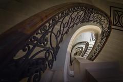 vortex (Blacklight Fotografie) Tags: staircase stairs stairwell stair steps step treppenhaus treppe treppen cottenstairs geländer vortex wirbel stufen stufe germany architektur architecture city stadt travel reise reisen marmor lookingdown