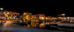 Myrina Harbour at Night (High ISO) (Panasonic Lumix S1 & Lumix S 24-105mm f4 Zoom) (1 of 1) (markdbaynham) Tags: greece greek grecia greka greekisland greekholiday greeceaegean greektown greekaegean gr hellas hellenic food greekfood myrina mypina myrinatown myrinaharbour harbour panasonic lumix lumixer panasoniclumix panasonicleica panny northaegean northaegeanisland s1 drink dcs1 lumixdcs1 s lumixs1 lumixfullframe lumixs lumixszoom 24105mmf4 24105mm zoomlens lumixzoom lumixzoomlens boat ship people taverna tree church traditional landscape seascape seafront nightscape panasonics1 panasonicdcs1 limnos lemnos lemnosgreece limnosgreece greeklife