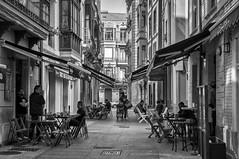 Xixón (danilob1) Tags: asturias españa gijón architecture blackandwhite city light people perspective street urban urbanexploration