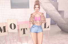 Party For One (EnviouSLAY) Tags: evie evani demin short shorts plush jacket pink brunette bun sintiklia bra teddy motel makeup eyebrows simplebloom bloom simple letre colivatibeauty colivati beauty genus classic belleza bento freya studioexposure studio exposure newrelease summerfest kustom9 n21 monthlyevent monthlyfair monthlyfashion seasonalevent seasonalfair seasonalfashion seasonal monthly fair fashion event pale female male gay lgbt pride blogger secondlife second life photography