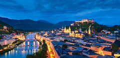 _DSC4619 - The Toy Town of Salzburg (AlexDROP) Tags: 2019 austria salzburg europe art travel architecture color cityscape skyline city castle river bluehour nikond750 tamronaf1735mmf284diosda037 best iconic famous mustsee picturesque postcard panoramic