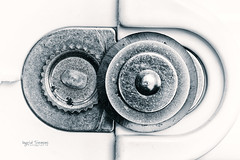 Open Up (Inky-NL) Tags: macromondays macro wheel wheels canopener blikopener metal ingridsiemons©2019 tool bw blackandwhite