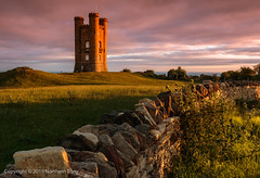 Broadway Tower (Northern Tony) Tags: canon 7d canon7dmarkii cotswolds sunrise morning earlymorning sky colours broadwaytower broadway tower castle folly 1740mm canon1740mml architecture brick britain british building clouds countryside england english worcestershire grass green hdr hill hills landmark monument old picturesque rural rustic sunny summer view viewpoint walls twop