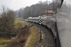 Entre La Roche s/ Foron et Annecy (Alexoum) Tags: sncf tgv sud est haute savoie saint gervais lyon annecy paris special voie unique train