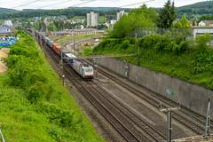 Railway: Crossrail still active (3/3) (jaeschol) Tags: br186 br186905 bombardier brugg eisenbahn elektrischelokomotive europa europe kantonaargau kontinent lokomotive railpool schweiz suisse switzerland transport chemindefer railroad railway