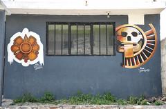 Murals Tlaxcala Mexican window Paintings (Ilhuicamina) Tags: streetart ventanas windows prehispanic art paintings murals tlaxcala tequexquitla
