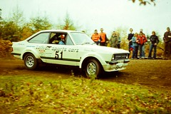 Focol Wyedean Rally, November 1978 (beareye2010) Tags: rally rallyinginthe1970s rallycar 1970s 1978 forestofdean focolwyedean ford fordescort lothiansportscars