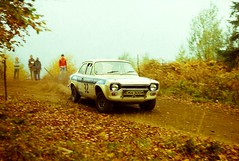 Focol Wyedean Rally, November 1978 (beareye2010) Tags: rally rallyinginthe1970s rallycar 1970s 1978 forestofdean focolwyedean ckh300k ford fordescort fordescortmk1