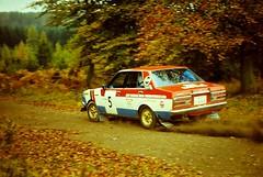 Focol Wyedean Rally, November 1978 (beareye2010) Tags: rally rallyinginthe1970s rallycar 1970s 1978 forestofdean focolwyedean datsun nissan andydawson finished1st