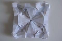Woven Diamonds variation Tessellation (Byriah Loper) (Byriah Loper) Tags: origami origamimodular modularorigami modular byriahloper paperfolding paper polygon polyhedron wireframe