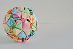 Galicia Kusudama (Byriah Loper) (Byriah Loper) Tags: origami origamimodular modularorigami modular byriahloper paperfolding paper polygon polyhedron wireframe