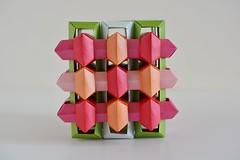 27 Interlocking Rectangles (Byriah Loper) (Byriah Loper) Tags: origami origamimodular modularorigami modular byriahloper paperfolding paper polygon polyhedron wireframe