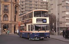 Dublin Bus RH25 (90D1025). (Fred Dean Jnr) Tags: dublinbusroute13a shill leyland olympian alexander rh rh25 90d1025 dublinbus busathacliath dublin collegestreetdublin february1999 dublinbusbluecreamlivery
