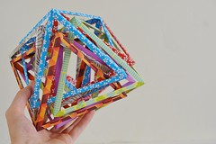 6 Interlocking Octahedra (Byriah Loper) (Byriah Loper) Tags: origami origamimodular modularorigami modular byriahloper paperfolding paper polygon polyhedron wireframe