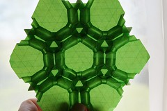 Pascal's Hexagons Tessellation (Byriah Loper) (Byriah Loper) Tags: origami origamimodular modularorigami modular byriahloper paperfolding paper polygon polyhedron wireframe