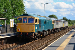 33035 56091 56103 0Z57 Thurnscoe (British Rail 1980s and 1990s) Tags: train rail railway loco locomotive er easternregion mainline yorkshire livery liveried traction diesel br britishrail grid type5 56 class56 new dcr grey devoncornwallrailway bar 56091 56103 0z57 brcw type3 sulzer 33 class33 blue 33035 wensleydaledieselgala