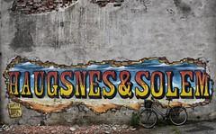 Haugesund Graffiti (Mr_Pudd) Tags: bike norway wall graffiti paint render urbandecay cement haugesund weed nikon nikond750 brick tarmac streetart