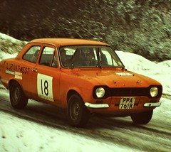 Eppynt, December 1978 (beareye2010) Tags: rally rallyinginthe1970s rallycar eppynt 1970s 1978 snow cold ice ford fordescort wales ppa761r dickplatts janefoster clubnatwest car18