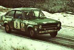 Eppynt, December 1978 (beareye2010) Tags: rally rallyinginthe1970s rallycar eppynt 1970s 1978 snow cold ice ford fordescort wales motowest hrl662n