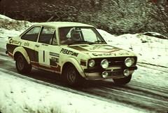 Eppynt, December 1978 (beareye2010) Tags: rally rallyinginthe1970s rallycar eppynt 1970s 1978 snow cold ice ford fordescort wales pierstune centuryoils car1