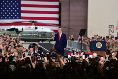 """President Donald J. Trump addresses service members stationed during his visit to Osan Air Base (#PACOM) Tags: usindopacificcommand """"usindopacom"""