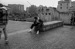 The Thinker (daveseargeant) Tags: street monochrome black white tower london man thinker leica x typ 113