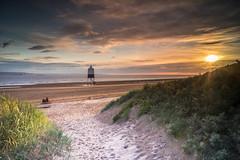Burnham-on-Sea Lighthouse (grahamhutton) Tags: burnhamonsea burnham lighthouse light sonya7 samyang24mmf28fe somerset sunset sand beach goldenlight people clouds leefiltersseven5