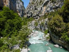 Le Verdon (RIch-ART In PIXELS) Tags: france water river canyon verdon aiguines riviére gorgesduverdon provencealpescôtedazur cliff tree rock landscape paysage xt20 fujifilmxt20