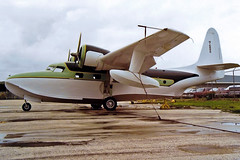N168WS   Grumman G-73 Mallard [J-5] Fort Lauderdale-Hollywood Int'l~N 22/10/1998 (raybarber2) Tags: airportdata cnj5 filed flickr floatplane j5 kfll n168ws planebase print raybarber twinprop usacivil oldtimer
