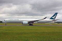 B-LXB 2 Airbus A350-1041 Cathay Pacific Airways MAN 01JUL19 (Ken Fielding) Tags: blxb airbus a3501041 cathaypacificairways aircraft airplane airliner jet jetliner aviation