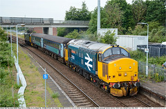37424_37407GB_Acle_240619 (Catcliffe Demon) Tags: drs directrailservices class374 railways uk norfolk locohauled tractor ukrailimages2019 mk2f abelliogreateranglia diesellocomotive coco topandtailed largelogo britishrail doublearrow