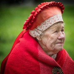 Elderly Estonian woman (ABWphoto!) Tags: europe estonia tallinn woman elderly aged one ethnic cultural clothing outside naturallight portrait face