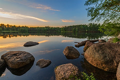 Lake Joanis (Daniel000000) Tags: lake joanis schmeeckle reserve stevens point wisconsin wi rocks reflections water new old sky sunset tree trees green summer summertime blue art nikon d850 wide angle explore nature landscape dslr