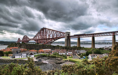 There may be trouble ahead......... (david.hayes77) Tags: fife scotland 2019 scotrail class158 1b06 firthofforth forthbridge letsfacethemusicanddance clouds landscape kingdomoffife railway engineeringwonder unescoworldheritagesite