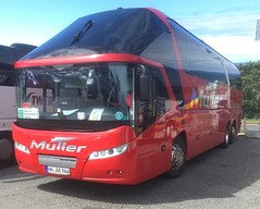 Muller Reisen [ Massenbachhausen ]  Neoplan Starliner,   35 . HN-AR966 , St. Ives Trenwith coach park 12/6/19 (busmothy) Tags: mullermassenbachhausen hnar966 stivescornwall coach neoplan starliner
