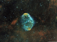 Euro Nebula NGC6888 HST (Terry Hancock www.downunderobservatory.com) Tags: skywatcher esprit150 qhy163m qhyccd optolong space sky astronomy astrophotography astroimaging crescent nebula cosmos