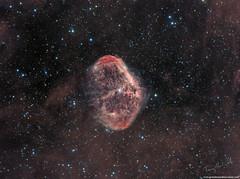 Euro Nebula NGC6888 (Terry Hancock www.downunderobservatory.com) Tags: skywatcher esprit150 qhyccd optolong space sky astronomy astrophotography astroimaging crescent nebula cosmos