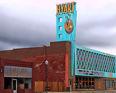 hyart (oldogs) Tags: theater turquoise brick palette smalltown downtown mainstreet wyoming teal dreary