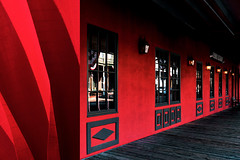 MMM Red Shades (Carrie McGann) Tags: hmmm mosaicmontagemonday mosaic montage redshades firehouse oldsac sacramento 062919 nikon nikond850 interesting
