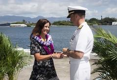 "Second Lady of the United States Karen Pence addresses military spouses in Hawaii (#PACOM) Tags: indopacom secondlady karenpence militaryspouses pearlharbor unitedstates usindopacificcommand ""usindopacom"