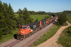 U743 (THE Woodtick) Tags: sd75i canadiannational michigan ore taconiteore taconite cnexwc exwisconsincentral exchicagonorthwestern gwinn