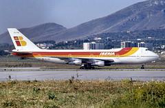 Boeing 747-256B EC-DIA Iberia (EI-DTG) Tags: malagaairport agp 12apr1985 b747 queenoftheskies ecdia iberia fourholer