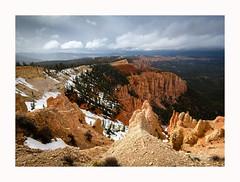 Bryce View (www.halkaphoto.com) Tags: usa americansouthwest utah brycecanyon nationalpark sandstone rim viewpoint stormysky desert desertplants arid