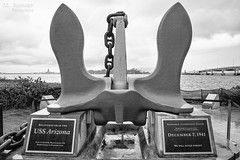 USS Arizona Anchor - Pearl Harbor - Honolulu, Oahu,  Hawaii B&W (J.L. Ramsaur Photography) Tags: jlrphotography nikond7200 nikon d7200 photography photo oahuhi 25thanniversary honolulucounty hawaii 2019 engineerswithcameras islandsofhawaii photographyforgod hawaiianislands islandphotography screamofthephotographer ibeauty jlramsaurphotography photograph pic oahu tennesseephotographer oahuhawaii 25years anniversarytrip bucketlisttrip thegatheringplace 3rdlargesthawaiianisland 20thlargestislandintheunitedstates therainbowstate pearlharbornationalmemorial pearlharbor engagementtopeace ussarizonamemorial ussarizona bravery sacrifice loss heroism heroes usnavy worldwarii ww2 navy unitesstatesnavy remember memorial pacificwar wwiivalorinthepacificnationalmonument nationalparkservice december71941 pearlharborattack usnavalbase honoluluhawaii honolulu honoluluhi ussarizonaanchor fordisland uspacificfleet daythatwillliveininfamy anchor bw blackwhite blackandwhite nik niksilverefexpro2 silverefex nikcollection monochrome colorless